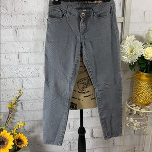 Stretch gray ankle pants